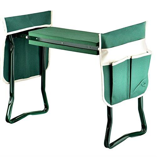 SoB Folding Gardening Seat and Kneeler with Soft Eva Pad Seat...