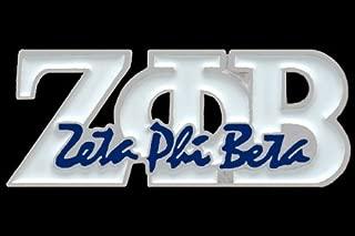 Zeta Phi Beta (Zpb) New Signature White Lapel Pin