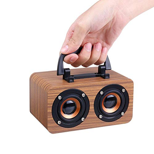 10 watt hout draadloze Bluetooth draagbare luidspreker subwoofer stereo bass systeem Bluetooth luidspreker TF USB MP3-speler Home versterker