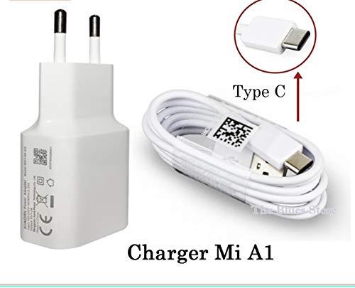 Movilux_ES oplader MDY-08-EO (5V / 2A) + USB-kabel, type C, wit, voor Xiaomi Mi A1/A2, Mi 8/Lite