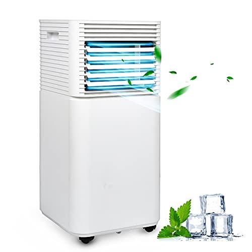 VINGO Mobiles Klimagerät 7.000 BTU/h mit ökologischem Kühlmittel,4-in-1 Klimaanlage Eco R290,Aircondition, Ventilator und Luftentfeuchter für Räume bis 60 m3,Weiß,EEK: A