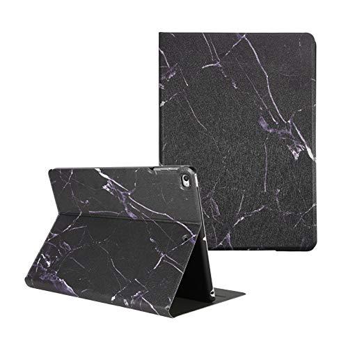Funda para iPad Air/Air 2, iPad 9.7 pulgadas 2018/2017, Artcase Marble Case Funda de piel sintética con función atril para Apple iPad Air 1/2, iPad 5/6ª generación (mármol negro)
