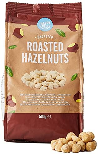Marca Amazon - Happy Belly Avellanas tostadas sin sal añadida,