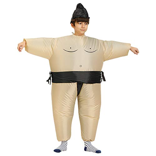MINACARE Inflatable Sumo Wrestler Costume Kids Sumo Suits Halloween Blow up Costume, One Size Fits Most
