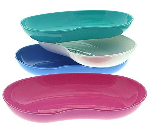 Nierenschale Kosmetex aus Kunststoff, lebensmittelecht, desinfizierbar, autoklavierbar, farbig sortiert, 4er Set