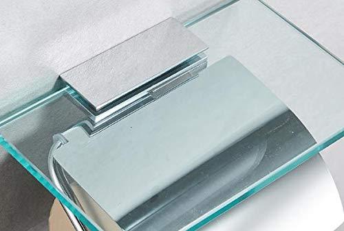 [CherryStyle]トイレットペーパーホルダーガラス棚付洋風インテリア(シングルタイプ)