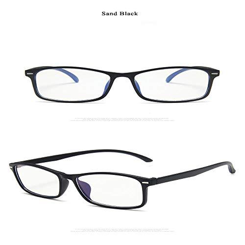 OcchialidaSoledaUomo Montatura per Occhiali da Vista Moda Uomo Donna Quadrato Ultraleggero Occhiali Trasparenti Lenti Trasparenti Occhiali Sandblack