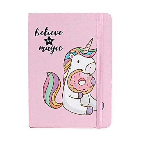 YeahiBaby - Cuaderno de tapa dura con diseño de unicornio A7 Mixed Pattern