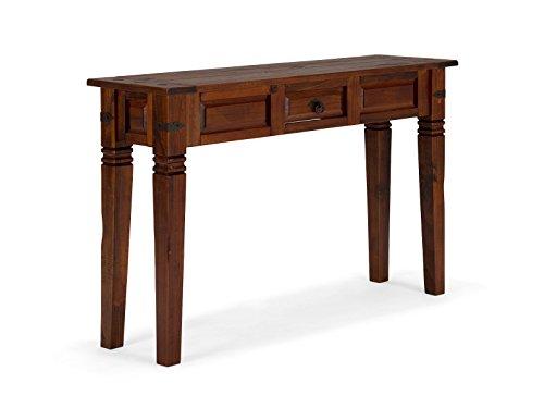 massivum Konsolen-Tisch Catana 120x76x35 cm aus massiver Pinie braun gebeizt und lackiert mit Schublade