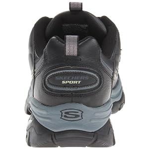 Skechers Sport Men's Energy Afterburn Lace-Up Sneaker,Black/Gray,16 XW US