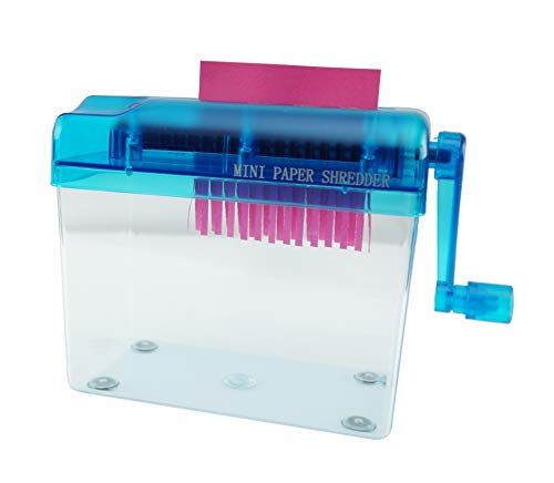 HOME-X Hand Crank Paper Document Shredder, Office and Teaching Supplies
