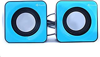 PC headphone and laptop from Kisonli, blue color