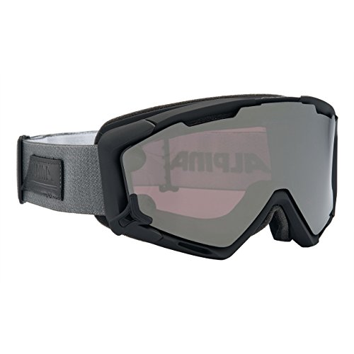 ALPINA Panoma Mag Skibrille, Black Matt, One Size