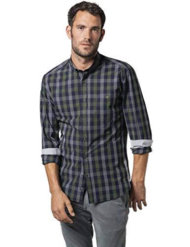 Etiem Camisa Hombre Sport Slim Cuadro