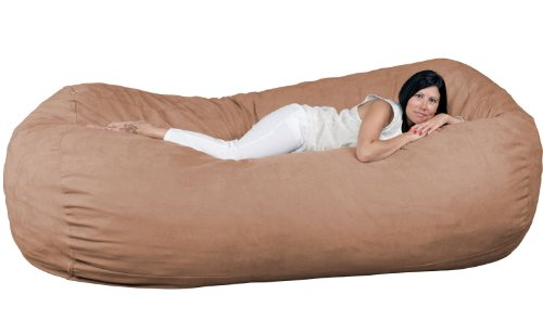 FUGU Bean Bag Chair, Premium Foam Filled 8 XL, Protective Liner Plus Removable Machine Wash...