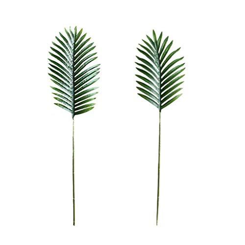 6 Soorten Kunstmatige Palm Bladeren met Faux Stammen Tropische Plant Bladeren Monstera Bladeren Safari Bladeren Length 72cm