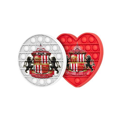 FOCO Sunderland AFC 2 Pack Football EPL League One Championship Circle & Heart Push-Itz FidgetPush Pop Bubble Sensor Toy Craze