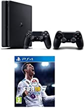 Sony PlayStation 4 500GB Slim with Extra Controller + FIFA 18