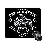 Alfombrilla de mesa antideslizante de alta velocidad para juegos Men of Mayhem Sons of Anarchy, alfombrilla de ratón con base de goma cuadrada para oficina, alfombrilla de escritorio pequeña personali