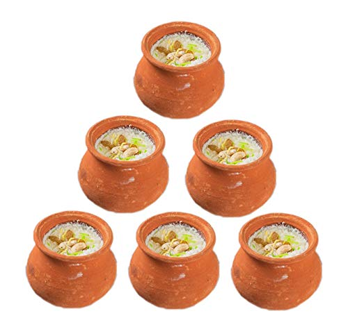 Clay Mud Pots for Kheer Curd (160 ml, Set of 4) - Real Mitti Katori Set Chutney Bowls