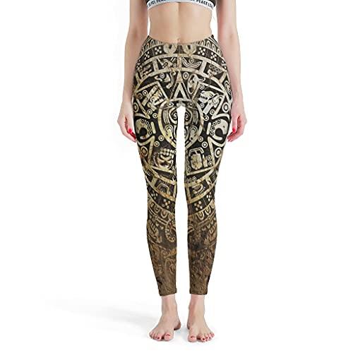 LPLoveYogaShop Leggings antiguos para mujer, diseño azteca,