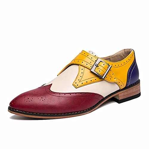 Zapatos Formales de Cuero para Hombre Ligeros Resistentes al Desgaste Puntiagudos Mocasines...