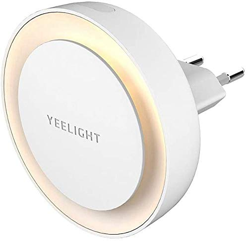 Yeelight LED Inductive Nightlight Plug with Light Sensitive Sensor for Bedroom Hallway Baby Room Toilet, (EU Plug)
