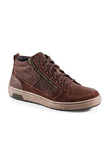 Walbusch Herren Kalbsleder Sneaker High Top einfarbig Cognac 42