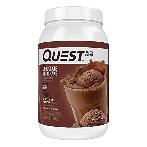 Quest Nutrition Chocolate Milkshake Protein Powder, High Protein, Low Carb, Gluten Free, Soy Free, 48 Ounce (Pack of 1)