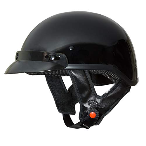 Fulmer 302 Revel Solid Half Helmet Black MD