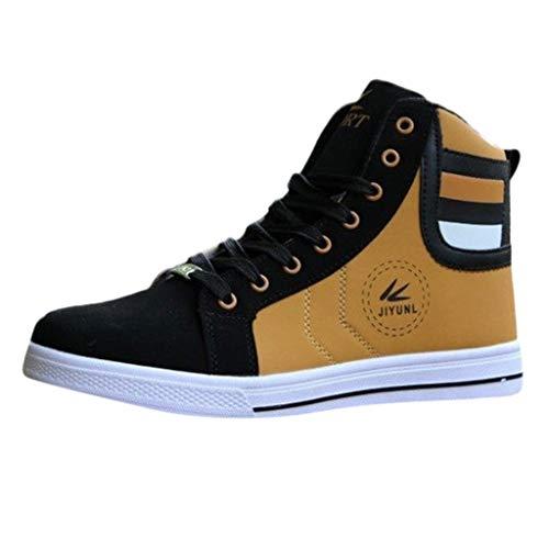 Sayla Zapatos Zapatillas para Hombres Casual Moda Verano Zapatillas De Deporte Altas con Punta Alta Y Punta Redonda Zapatos con Cordones De Skate Nuevo
