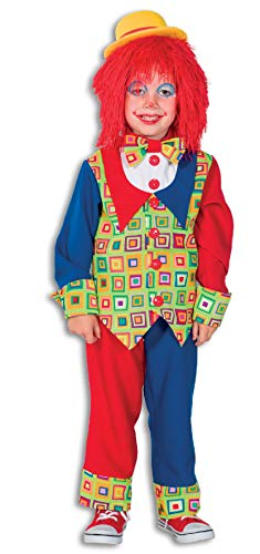narrenkiste L3101330-104 Disfraz de payaso para nios, multicolor, talla 104