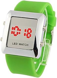Lanbinxiang@ Fashion Digital LED Quartz Watch, Both Men and Women Fashion (Color : Green)