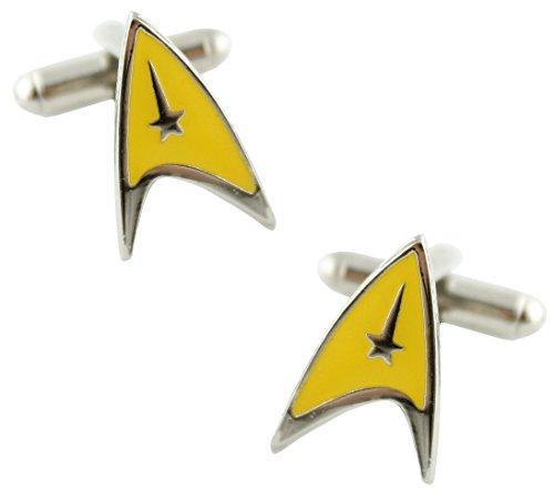 MasGemelos Star Trek Manschettenknöpfe, gelb