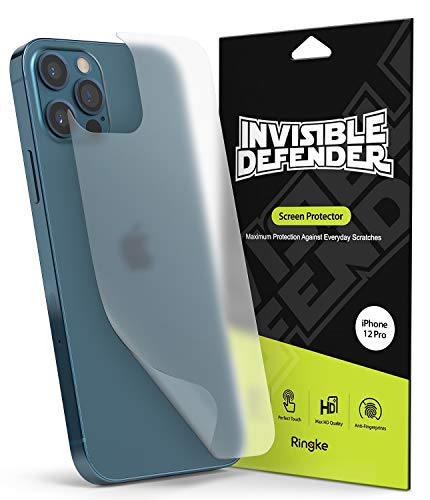 Ringke Back Screen Protector Film (2-Pack) Kompatibel mit iPhone 12 Pro, Kompatibel mit iPhone 12 Rückseite Schutzfolie (2020) - Matt