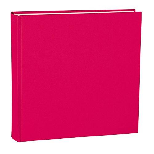Semikolon (351044) Album XLarge pink (rosa) - Foto-Album mit 130 Seiten - Cremeweißer Fotokarton mit Pergaminpapier - Format: 32,0 x 31,0 cm