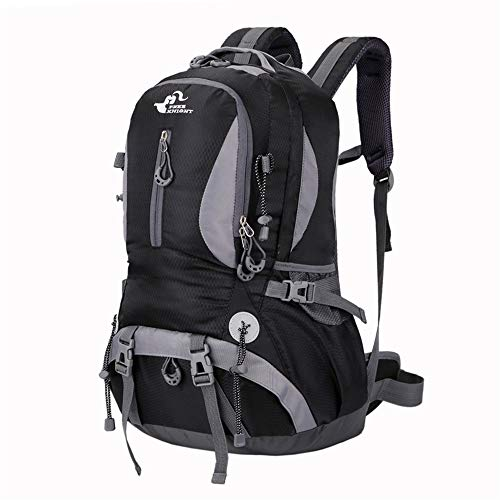 TWFY Hiking Backpack Trekking Camping Rucksack 40L Outdoor Sports Camping Hiking Waterproof Backpack Rucksack Mountaineering Bag For Trekking Water Resistant (Color : Black, Size : 40L)