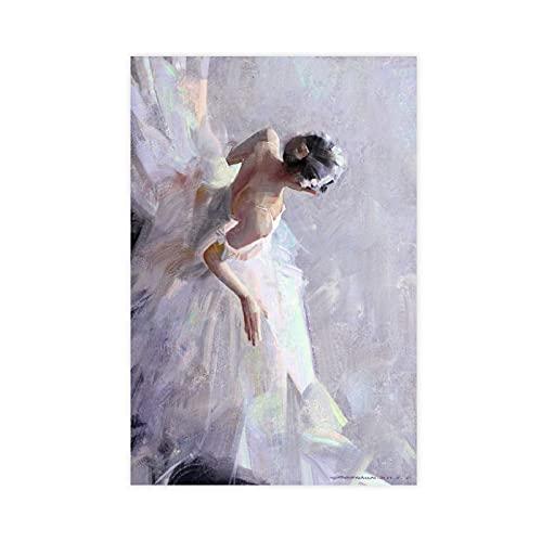 PLGG Póster de lona para decoración de pared con diseño de novia en vestido de boda, decoración para sala de estar, dormitorio, sin marco: 60 x 90 cm