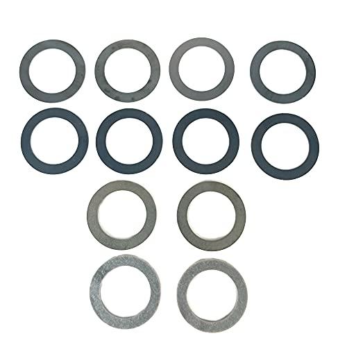 WKOOA 1/2x28 Barrel Shim Kit 5.56 223 Muzzle Brake Alignment Pack of 12