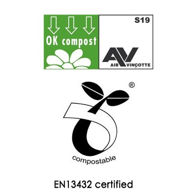 Acero inoxidable cubo para Compost y Biobags (30 bolsas ...