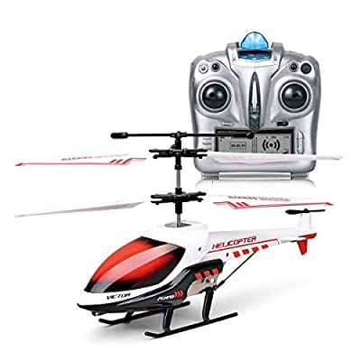 MKZDGM Rc Helicopter 3.5 Channels Helicopter with Gyro LED Light for Indoor Mini Helicopter RC Toy Gift for Teenagers and Adults,Helicopter Kids Drone