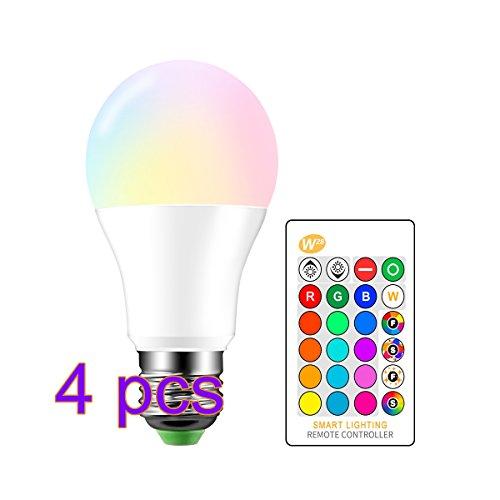 ONEVER 10W RGBW LED Farbwechsellampe E27 Atmosphäre Beleuchtung LED Lampe Blitzlicht Fade Mode Bar KTV Dekorative Beleuchtung RGB + Cool White [Energieklasse A ++]