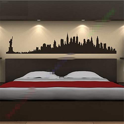 stickers muraux enfants bleu New York City Skyline America USA Lieux décalque personnalisé couleur faite