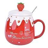 xingfuankang Coppia Carina Tazze in Ceramica Creative Tazza Tazza da tè Tazza da caffè al Latte Gattino del Fumetto/Totoro Home Office Tazza Succo di Frutta-Y_401-500Ml