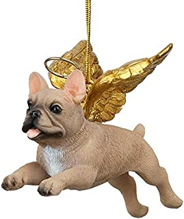 christmas french bulldog statue