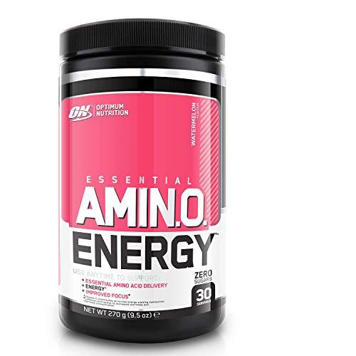 Optimum Nutrition ON Amino Energy Pre Workout Powder Keto Friendly con Beta Alanina, Cafeína, Vitamina C, Aminoacidos Micronizados Incluyendo BCAA, Sandía, 30 Porciones, 270 gr