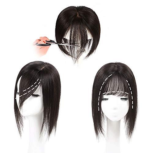 Souple Fashian Cheveux Réel Longs Cheveux Raides Pour Les Femmes Cheveux Supplémentaires Invisible Sans Soudure Perruque Pièce De Cheveux fashion (Couleur : [9x14] 30cm black)