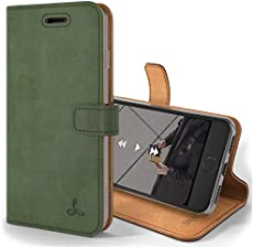 Snakehive Vintage Wallet for Apple iPhone 8 || Real Leather Wallet Phone Case || Genuine Leather with Viewing Stand & 3 Card Holder || Flip Folio Cover with Card Slot (Dark Green)
