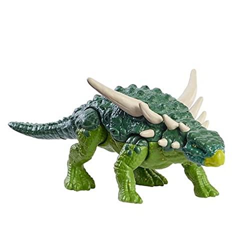 Jurassic World Fuerza Feroz Sauropelta Dinosaurio articulado, figura de juguete para niños (Mattel HBY67)
