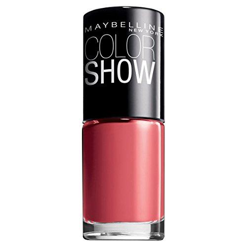 Maybelline New York Make-Up Nailpolish Color Show Nagellack Coral Craze / Ultra glänzender Farblack in knalligem Rot, 3 x 7 ml